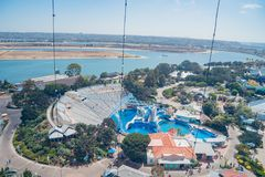 Aerial view of the famous SeaWorld. San Diego, JUN 27: Aerial view of the famous SeaWorld on JUN 27, 2018 at San Diego, California stock images