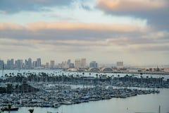 The beautiful sunset skyline. San Diego, JUN 27: The beautiful sunset skyline on JUN 27, 2018 at San Diego, California royalty free stock image