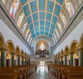 Interior view of the Immaculata church of University of San Dieg. San Diego, JUN 27: Interior view of the Immaculata church of University of San Diego on JUN 27 Stock Photos
