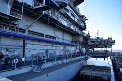 San Diego, Kalifornia Dec 04,2016 usa marynarki wojennej mola USS Midway muzeum - usa - San Diego, Kalifornia - Dec 04,2016 - Obrazy Stock