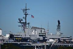 San Diego, Kalifornia Grudzień 04, 2016: - usa - USS Midway muza zdjęcie royalty free