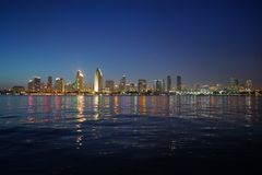 San Diego Kalifornia linia horyzontu fotografia stock