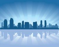 San Diego Kalifornia miasta linii horyzontu sylwetka royalty ilustracja