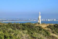 San Diego, Kalifornia od Cabrillo Krajowego zabytku przy point loma Zdjęcie Stock