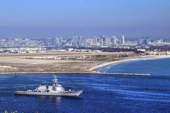 San Diego, Kalifornia od Cabrillo Krajowego zabytku przy point loma Zdjęcia Stock