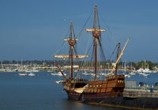 SAN DIEGO, Kalifornia, usa - Marzec 13, 2016: San Diego Morski muzeum w San Diego schronieniu, usa Obraz Royalty Free