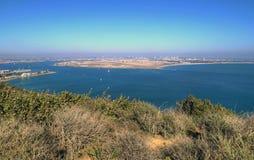 San Diego Kalifornien från Cabrillo den nationella monumentet Royaltyfri Bild