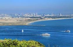San Diego Kalifornien från Cabrillo den nationella monumentet Royaltyfri Fotografi