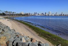 San Diego Kalifornien horisont från Coronado Royaltyfri Bild