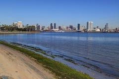 San Diego Kalifornien horisont från Coronado Royaltyfri Foto