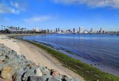 San Diego Kalifornien horisont från Coronado Royaltyfri Fotografi