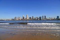 San Diego Kalifornien horisont från Coronado Fotografering för Bildbyråer