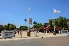 San Diego, Kalifornien, USA - 2. Juli 2015: Haupteingang zur historischen Stadt von San Diego, Kalifornien lizenzfreie stockfotos