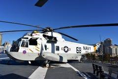 San Diego, la Californie - Etats-Unis - décembre 04,2016 - musée intermédiaire d'USS de l'hélicoptère 68 de marine Photographie stock libre de droits
