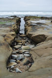 San Diego La Jolla Rocky Coast Royalty Free Stock Photography