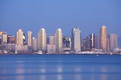 San Diego la nuit Image stock
