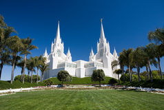 San Diego LDS Temple Royalty Free Stock Photography