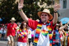 San Diego LGBT dumy parada 2017 Obrazy Stock