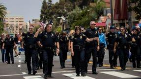 San Diego LGBT dumy parada 2017, siły policyjne Obraz Royalty Free