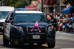 San Diego LGBT dumy parada 2017, siły policyjne Zdjęcie Royalty Free