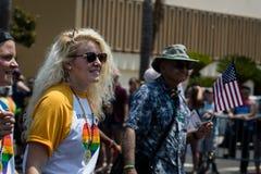 San Diego LGBT stolthet ståtar 2017 Royaltyfria Foton