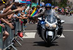 San Diego LGBT stolthet ståtar 2017 Arkivfoto