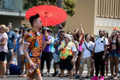 San Diego LGBT stolthet ståtar 2017 Royaltyfri Fotografi
