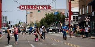 San Diego LGBT stolthet ståtar 2017 Arkivbild