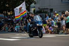 San Diego LGBT stolthet ståtar 2017, motorcykel Arkivbilder