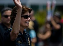 San Diego LGBT stolthet ståtar 2017, polisstyrka Arkivbild