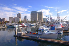 San Diego Marina. A view of the marina in San Diego harbor Royalty Free Stock Photos