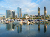San Diego marina. Sunrise at the marina in San Diego, California, USA Royalty Free Stock Photos