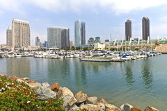 San Diego marina downtown buildings. Stock Images
