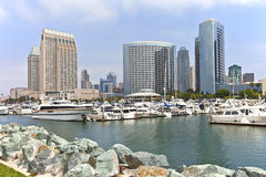 San Diego marina downtown buildings. Royalty Free Stock Photography
