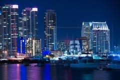 San Diego Marina at Night Stock Photos