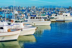 San Diego Marina and Skyline Royalty Free Stock Photos