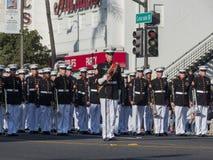 San Diego Marine Band toont van de buitengewone Toernooien van famou Stock Foto