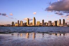San Diego miasta linii horyzontu zmierzch Fotografia Stock