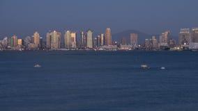 San Diego miasta linii horyzontu zmierzchu czasu upływ zdjęcie wideo