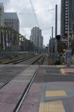 San Diego MTS train tracks Stock Photos