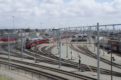 San Diego MTS Trains Stock Image