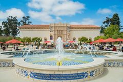 The San Diego Museum of Art in the beautiful and historical Balboa Park. San Diego, JUN 27: The San Diego Museum of Art in the beautiful and historical Balboa stock images