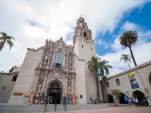 San Diego Museum des hommes en parc historique de Balboa photo libre de droits