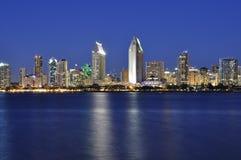 San Diego nachts Lizenzfreies Stockbild