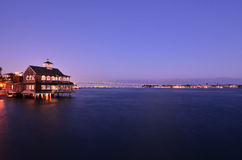 San Diego nattsikt Arkivfoto