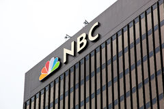 San Diego NBC Tower on a Cloudy Day royalty free stock images
