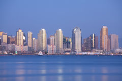 San Diego at night Stock Image