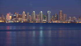 San Diego at night Royalty Free Stock Photos