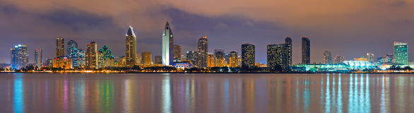 San Diego at night. Downtown San Diego at night royalty free stock image