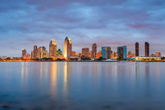 San Diego at night. Downtown San Diego at night stock image
